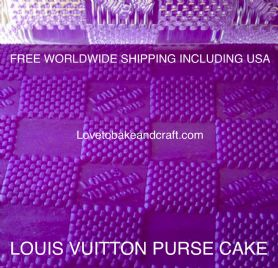 Large LV rolling pin. Louis Vuitton purse cake ,  LV Logo,  Louis Vuitton cake . Free shipping